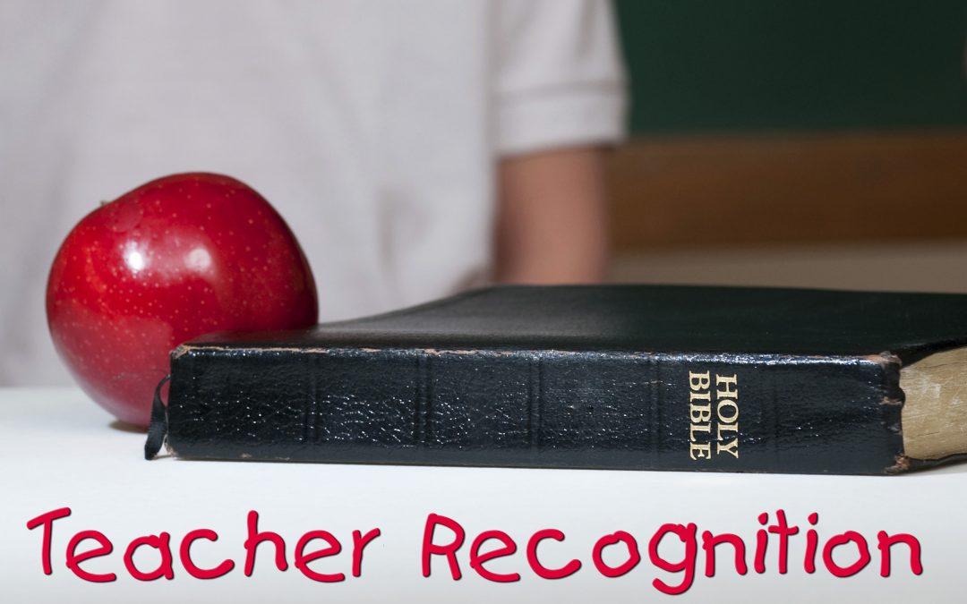 Teacher Recognition