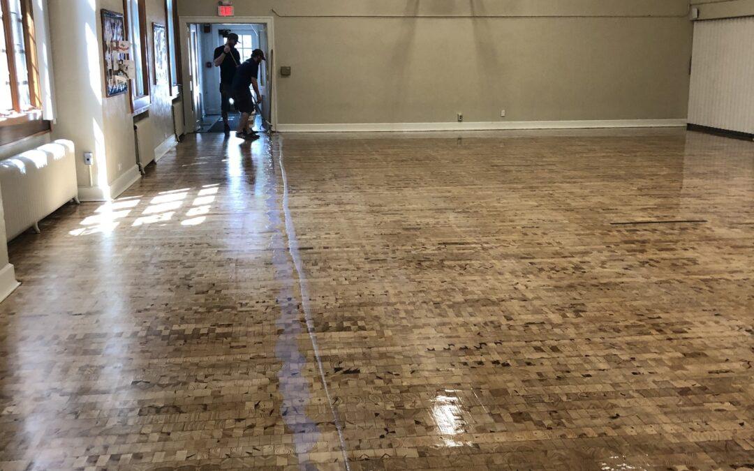 Gym Floor Strip and Refinish