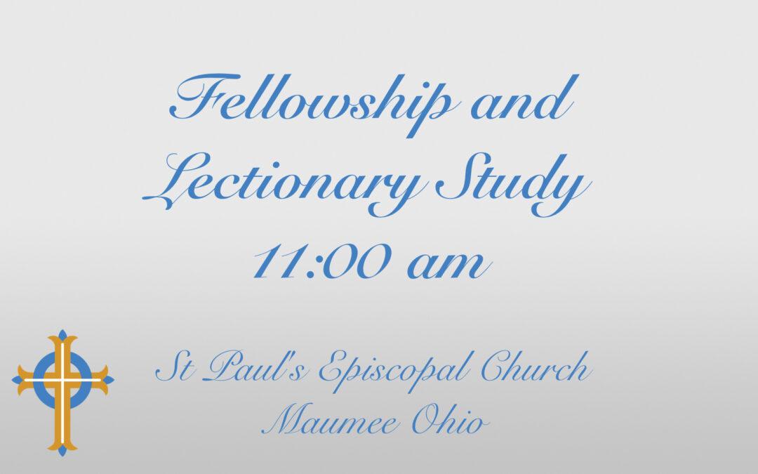Lectionary Study – Sundays at 11AM