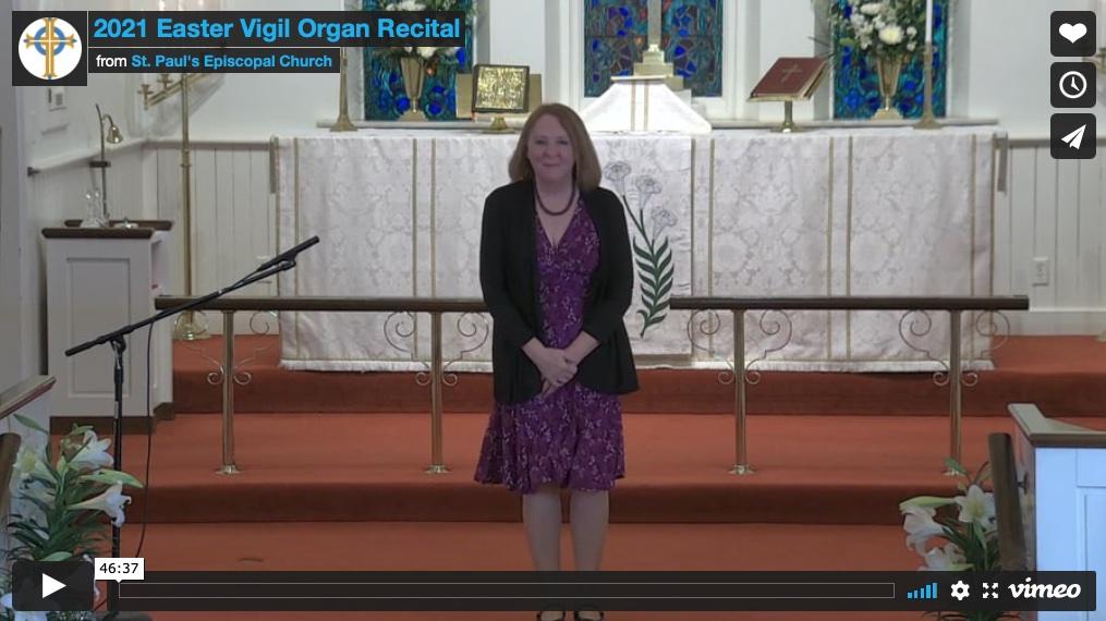 Easter Vigil Organ Recital